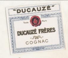 étiquette - DUCAUZE  French Brandy - Whisky
