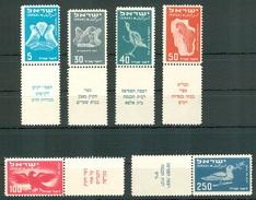Israel - 1950, Michel/Philex No. : 33-38, - MLH - Sh. Tab - - Neufs (sans Tabs)