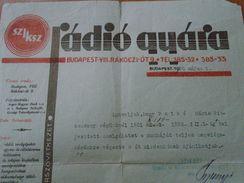 D151776  Hungary- SZIKSZ - Radio Usine Factory - Budapest - Letter  1932 - Facturas & Documentos Mercantiles