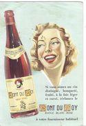 BUVARD Vin Rouge Blanc Rosé Fruité Bouqueté FONT DU ROY 69 Rhone Illustration Pin Up Et Bouteille étiquette Illustré - Electricité & Gaz