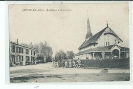10 LENTILLES L'Eglise Et Rue Du Jaron , Garde Champêtre A Vélo - Francia