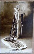75 GRANDS MAGASINS MAGASINS DU PRINTEMPS  HABILLENT MADAME BUCHET  LA REINE DES REINES 1922 CONCOURS DE BEAUTE - France