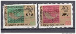 Liechtenstein 1974 Mi Nr 607 Tm 608  Compleet UPU - Liechtenstein
