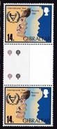 Gibraltar, 1981, 429,  Internationales Jahr Der Behinderten. MNH **, GUTTER PAIR - Gibilterra