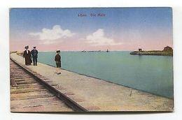 Latvia - Libau /  Liepaja- Die Mole - Harbour Wall, Railway Line - Old Postcard - Unclassified