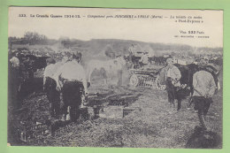 La Toilette Du Matin, Campement Près Jonchery Sur Vesle (Marne). 2 Scans. - Guerre 1914-18