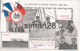 LA MACHINE A ECRIRE PREND SON VOL - LA PROVISION DE PAPIER - L'ENVOL AERODROME MILITAIRE DE ST-CYR - ....-1914: Precursors