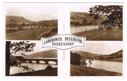 RB 1159 - Real Photo Postcard - Ladybower Reservoir Derbyshire - Peak District - Derbyshire