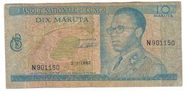 Zaire 100 Makuta 02/01/1967 .J. - Zaire