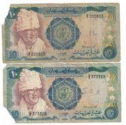Sudan Lot 2 X 10 Pounds 1981 .J. - Sudan