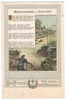 RB 1160 -  1917 Germany Veteran's Association Charity Song Card Postcard - Patriotic