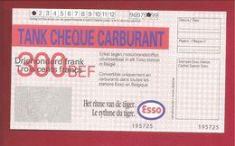 Tankcheque Esso 300 Frank - Belgium