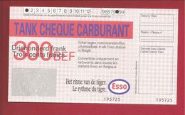 Tankcheque Esso 300 Frank - België