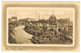 RB 1161 - Early Postcard - Princes Bridge Melbourne - Victoria Australia - Melbourne