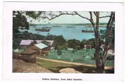 RB 1161 - Early Postcard - Sydney Harbour From Athol Gardens - NSW Australia - Sydney