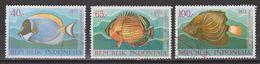 Indonesie Indonesia 756-758 Used ; Vissen, Fish, Poissons, Pescado 1973 NOW MANY STAMPS OF ANIMALS - Vissen