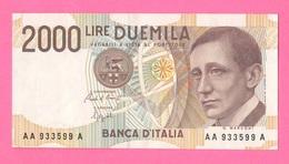 2.000 2000 Lire 1990 Marconi  Serie AA A - [ 2] 1946-… : Républic