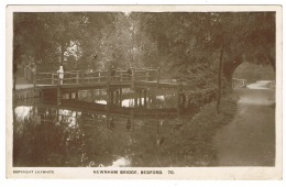 RB 1162 - Early Real Photo Postcard - Newnham Bridge Bedford - Bedfordshire - Bedford