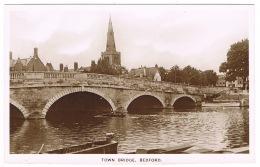 RB 1162 - Real Photo Postcard - Town Bridge Bedford - Bedfordshire - Bedford