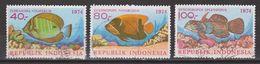 Indonesie Indonesia 803-805 Used ; Vissen, Fish, Poissons, Pescado 1974 NOW MANY STAMPS OF ANIMALS - Vissen