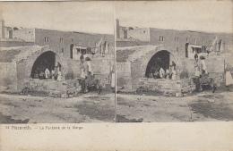 Israël - Carte Stéréoscopique - Nazareth - Fontaine De La Vierge - Israel