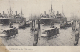 Bâteaux - Port - Carte Stéréoscopique - Hambourg - Pétroliers