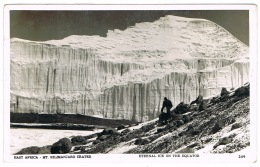 RB 1164 - Real Photo Postcard - Mt Kilimanjaro Crater Eternal Ice On Equator - Tanzania East Africa - Tanzania