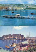 Napoli - Lotto 2 Cartoline MARGELLINA E PANORAMA, CASTELLO DELL'OVO E BORGO MARINARO, Anni '60 - N56 - Napoli