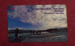 Vietnam Viet Nam Used Magnetic Phone Card / Phonecard : Salt Field In Phan Rang - Vietnam