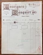 PARIS 1920   CONSEIGNES BAUQUIER  ANTICA FATTURA D'EPOCA - Francia