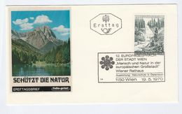 1970 AUSTRIA Folioprint FDC  NATURE CONSERVATION FOREST TREE Cover Stamps Trees - Trees
