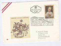 1971 AUSTRIA FDC CHRISTKNDL CHRISTMAS With SPECIAL Pmk  Cover Stamps Religion - Christmas