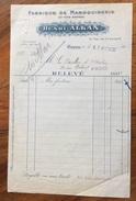 PARIS 1920  FABRIQUE DE MAROQUINERIE  HENRI ALKAN   FATTURA  ORIGINALE D'EPOCA - Francia