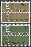 BELGIEN 1971 Mi-Nr. 1633/34 ** MNH - CEPT - Europa-CEPT