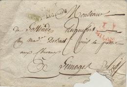 Lettre Ancienne Royaume D' Italie Par Lyon De Milano ( Vers Limoges ) - Historische Documenten
