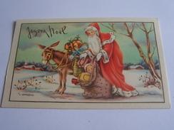 PERE NOEL   ANE SAC PLEIN DE JOUETS ILLUSTRATEUR J GOUGEON JOYEUX NOEL - Kerstmis