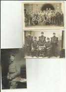 Lot De 3   Cartes Photos - Militaria- Régiments - Soldats -  Uniformes  - - Régiments