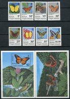 1991- VIRGIN ISL.- BUTTERFLYES-  CPL.SET + 2 S.S. - M.N.H.- LUXE !! - British Virgin Islands