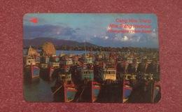 Vietnam Viet Nam Used Magnetic Phone Card / Phonecard : Nha Trang Harbour - Vietnam