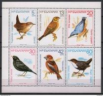 Bulgaria 1987. Animals / Birds Nice Sheet MNH (**) Michel: 3607-3612 Kleinbogen - Autres