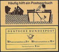 Bund Markenheftchen 8 I RLV X ** Albertus / Luther 1963 Postfrisch - Markenheftchen