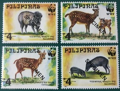 Philippines 1997 Specimen - Warty Pig And Deer, WWF 4V MNH - W.W.F.