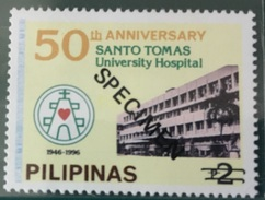 Philippines 1996 Specimen - 50th Anniversary Of Santo Tomas University Hospital 1V MNH - Health