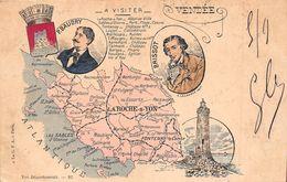 ¤¤  -  Carte Du Département De La VENDEE  - La Roche-sur-Yon , Noirmoutier, Fontenay-le-Comte   -  ¤¤ - France