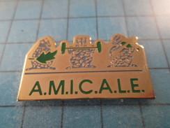 "Pin1717 Pin's Pins / THEME SPORTS : CLUB HALTEROPHILIE ""AMICALE"" ; Rare Et De Belle Qualité !!! - Weightlifting"