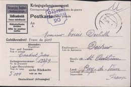 Guerre 39-45 World War II Prisonnier De Guerre Stalag 326 Série 300 Camp Disciplinaire Hovelhof Dépendant De Paderborn - Briefe U. Dokumente