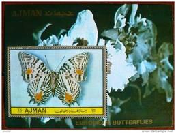 AJMAN PAPILLONS (BF 7). Neuf Sans Charniere. MNH - Schmetterlinge
