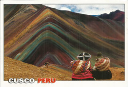 PEROU. Vinicunca – La Montagne Arc-en-ciel Du Pérou, Carte Postale Adressée ANDORRA,avec Timbre à Date Arrivée - Perú