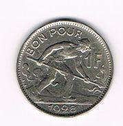 ) LUXEMBOURG  1 FRANC 1928 - Luxembourg