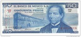 MEXICO 50 PESOS 1973 P-65a UNC SERIE AR [ MX065a ] - Mexico
